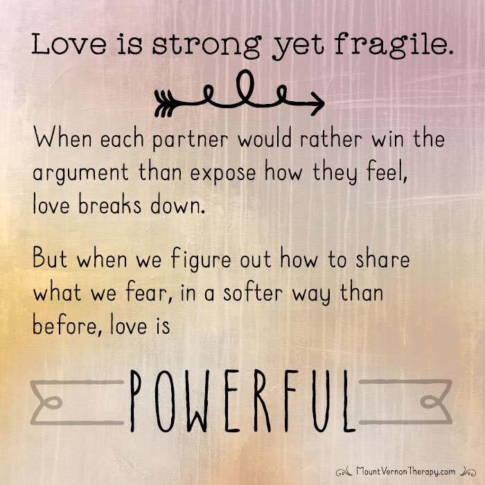 love is strong yet fragile